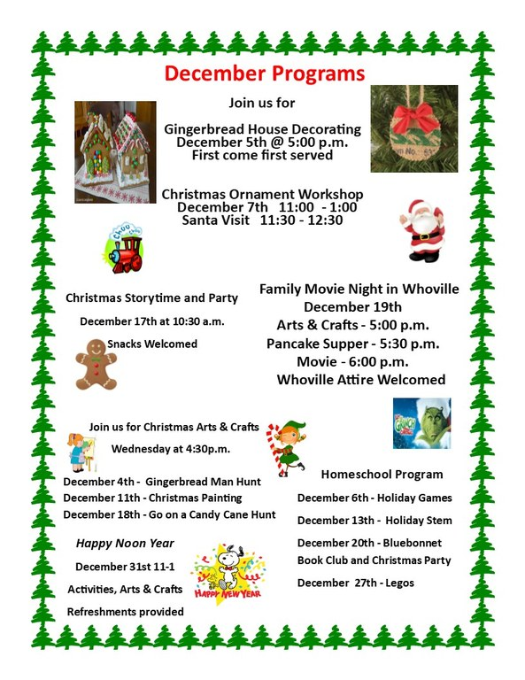December programs 2019