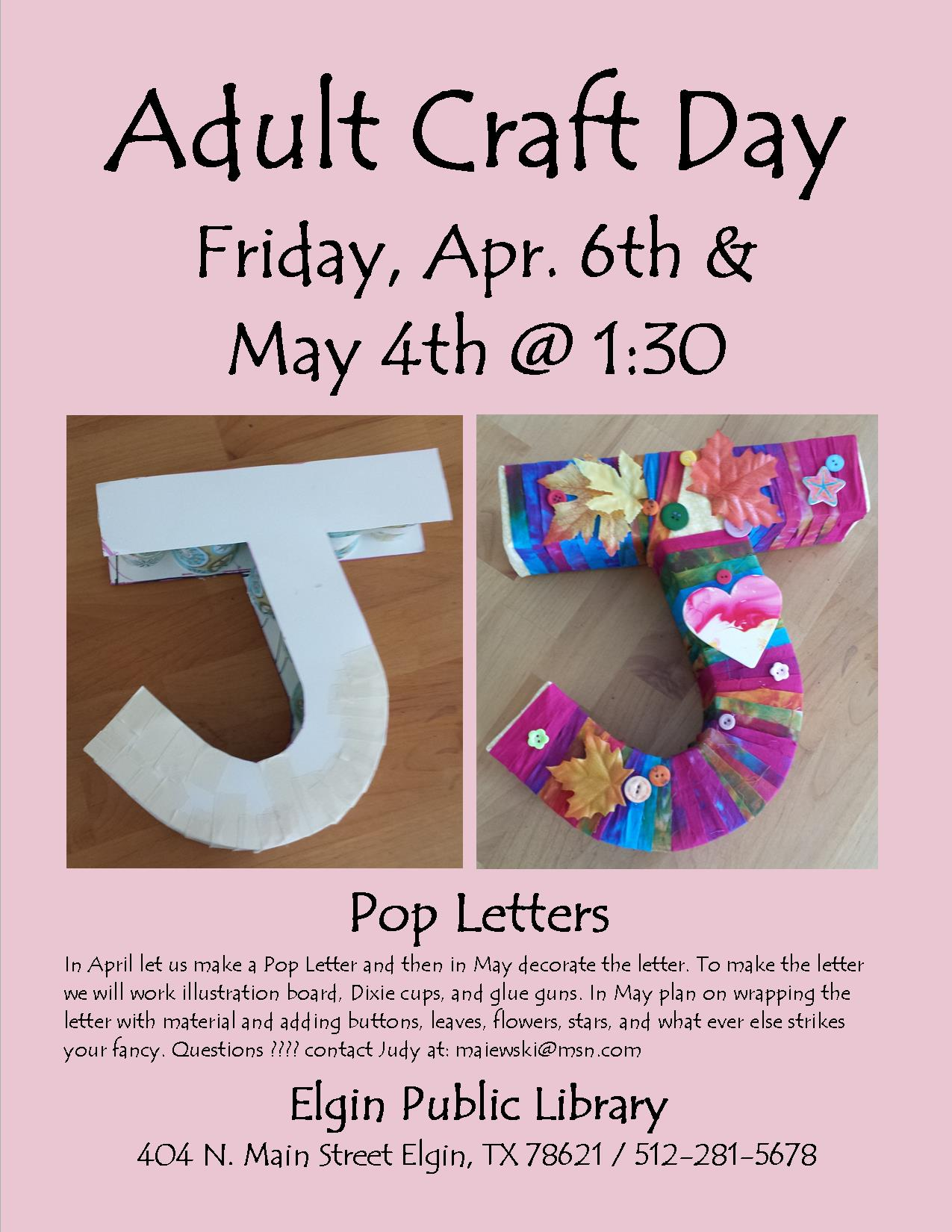 Adult Craft Day Apr. -  May 2018 (1).jpg